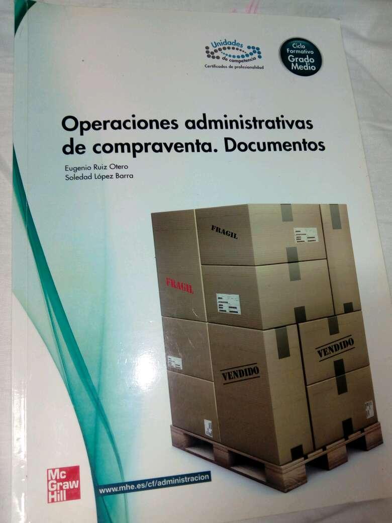 Imagen libro operaciones administrativas de compraventa. Documentos