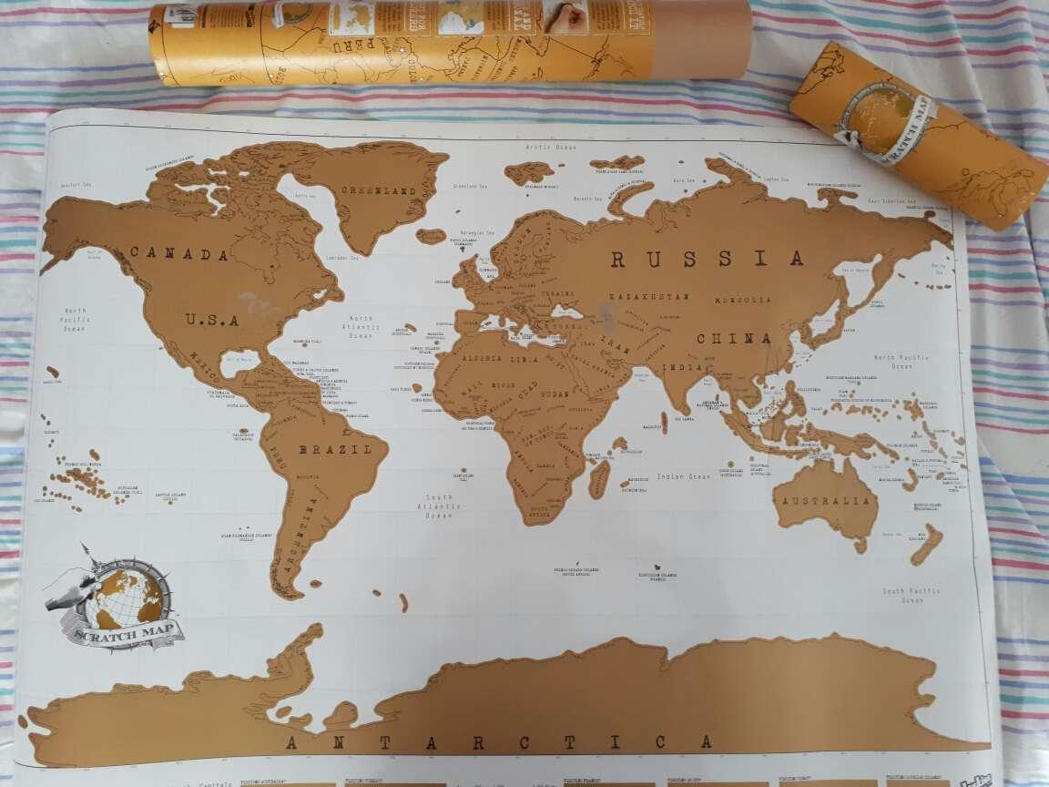 Imagen Scratch Map (mapamundi para rascar)