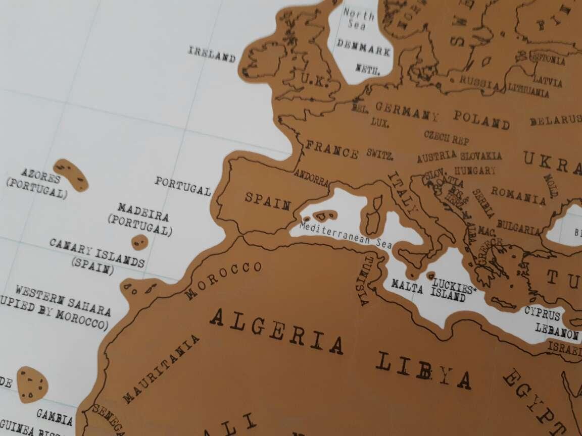Imagen producto Scratch Map (mapamundi para rascar) 2