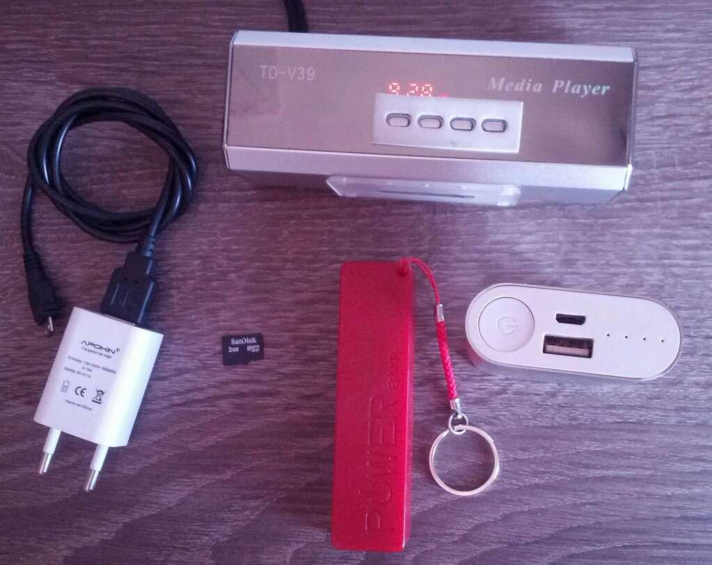 Imagen producto Radio portátil con sd 2gb y cargador y dos baterías portátiles  3