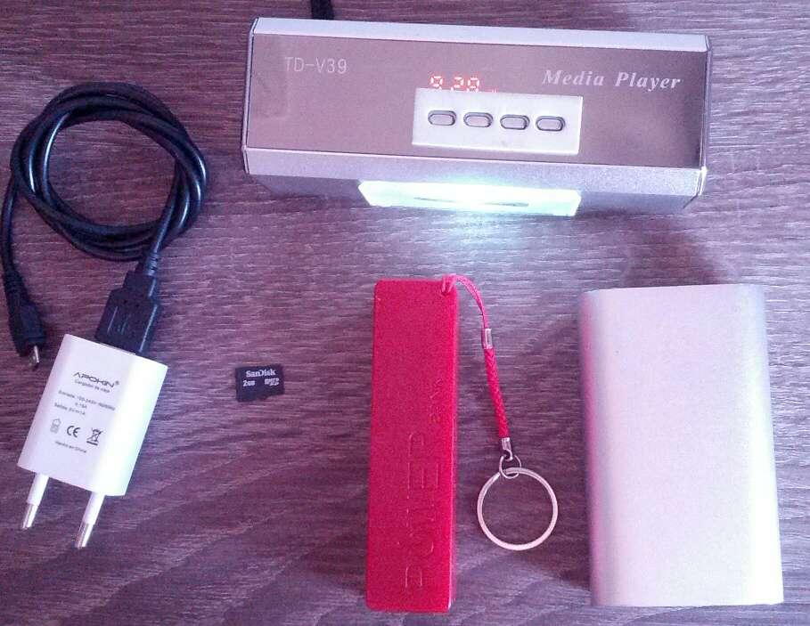 Imagen radio portátil con sd 2gb y cargador y dos baterías portátiles