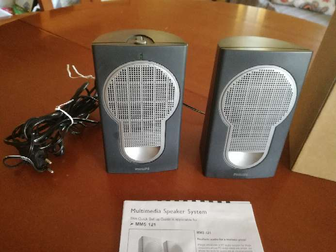 Imagen Dos altavoces para pc Phillips Multimedia Speakers 2.0 MMS 121