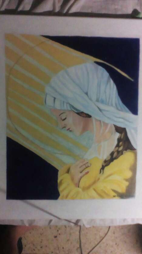 Imagen cuadro virgen maria