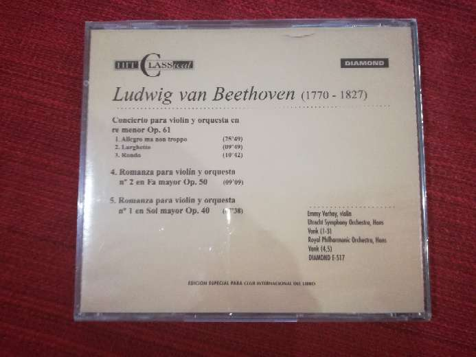 Imagen producto Cd de música clásica de Beethoven 2
