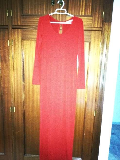 Imagen vestido rojo de fiesta