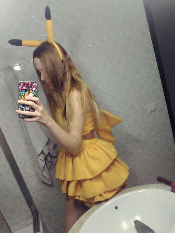 Imagen Traje vestido cosplay de Pikachu estilo lolita