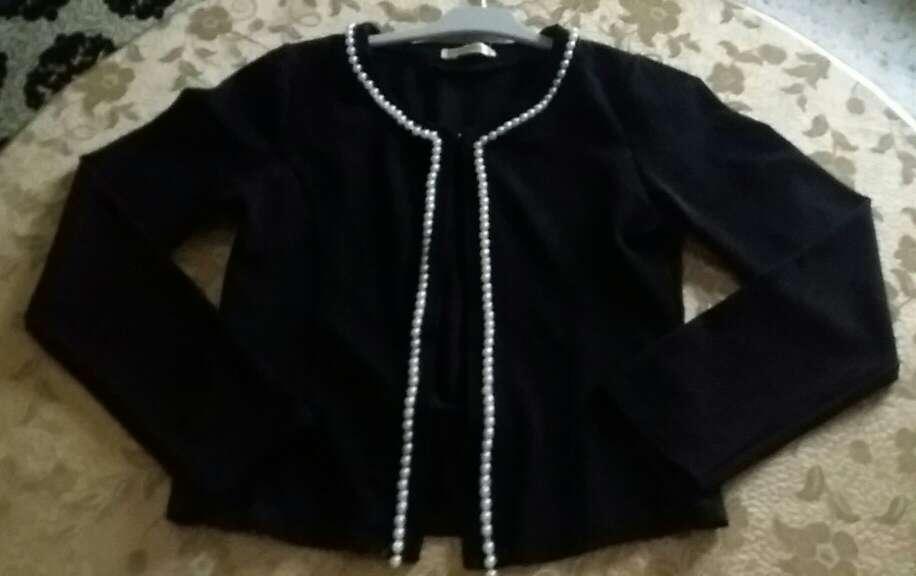 Imagen Rebca negra de perlas