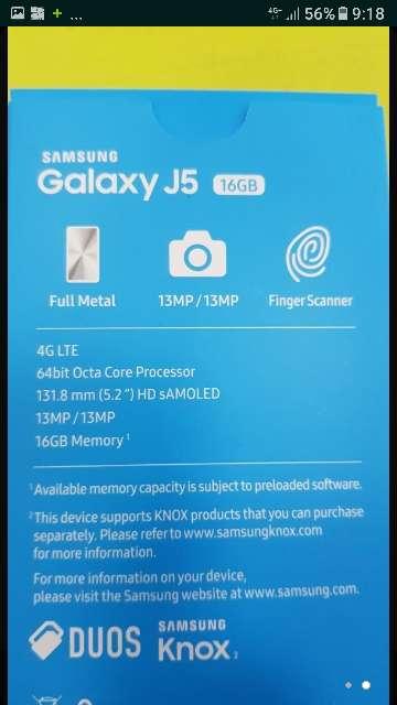 Imagen samsung galaxy dúo j5 2017 con funda silicona nuevo en su caja