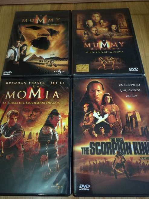 Imagen trilogía la momia+rey escorpion