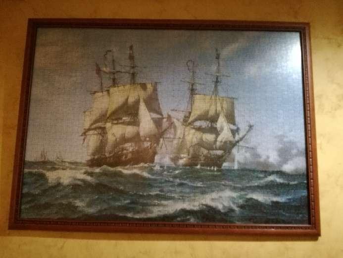 Imagen Cuadro de puzzle de barcos