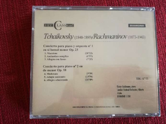 Imagen producto Cd de música clásica de Tchaikovsky/Rachmaninov 2