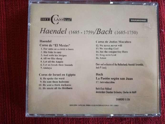 Imagen producto Cd de música clásica de Haendel/Bach 2