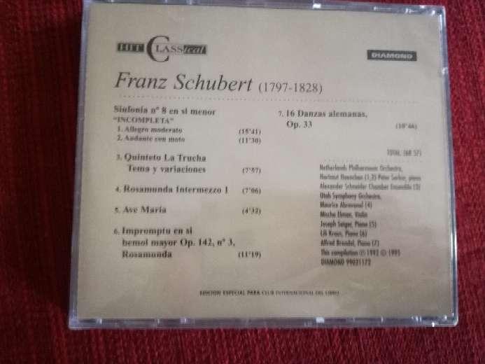 Imagen producto Cd de música clásica de Schubert 2