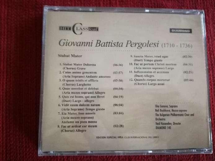 Imagen producto Cd de música clásica de Pergolesi 2
