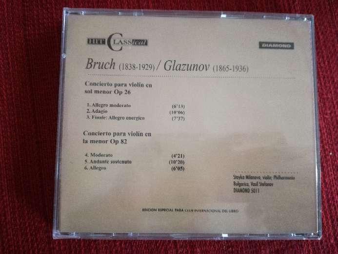 Imagen producto Cd de música clásica de Bruch/Glazunov 2