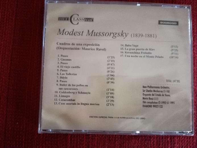 Imagen producto Cd de música clásica de Mussorgsky 2