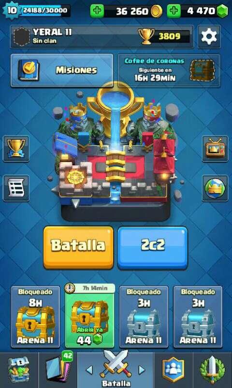 Imagen cuenta de clash royal