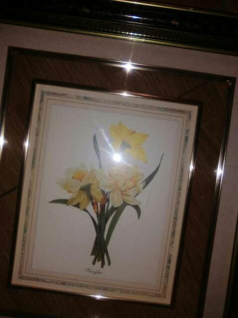 Imagen producto Cuadro de cristal con flor 2