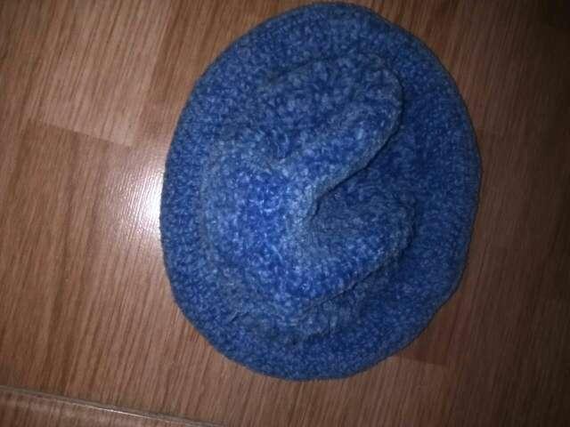 Imagen sobrero de lana azul