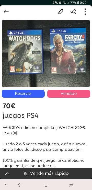 Imagen juegos ps4