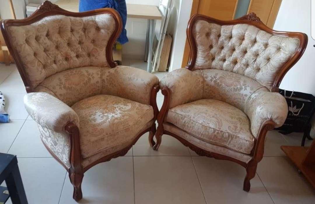 Imagen sofá de 3 plazas y dos butacas a conjunto