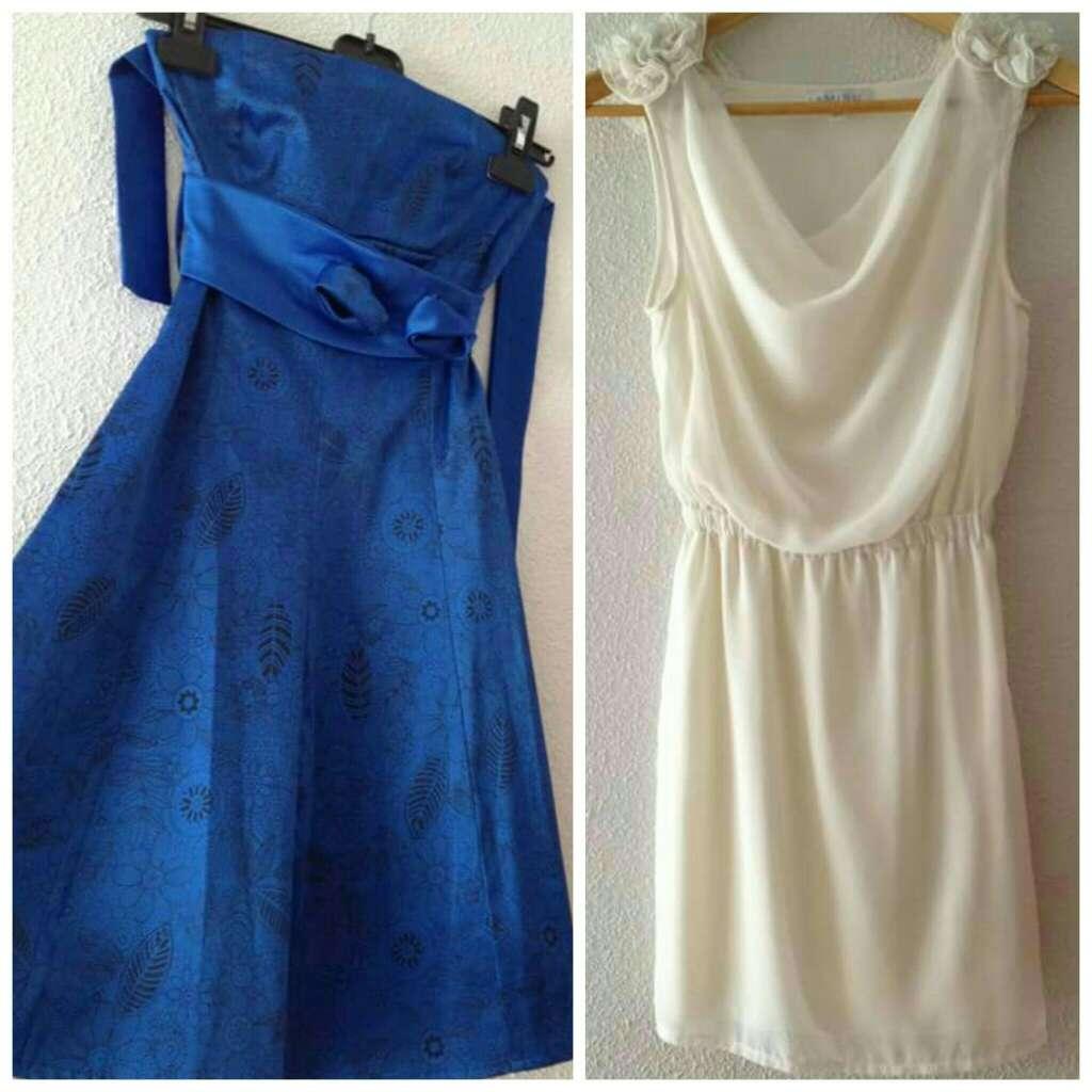Imagen 2 Vestidos Fiesta (azul y blanco)