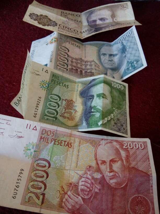 Imagen billetes de pesetas