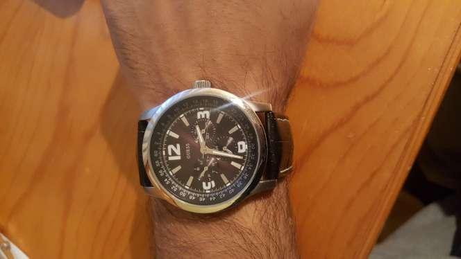 Imagen reloj Guess original correa de piel