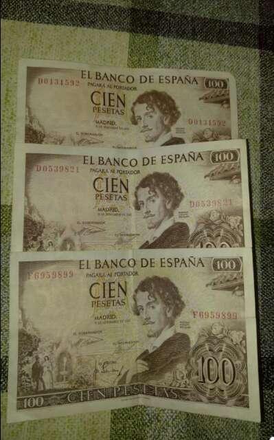Imagen Billetes de 100 pesetas