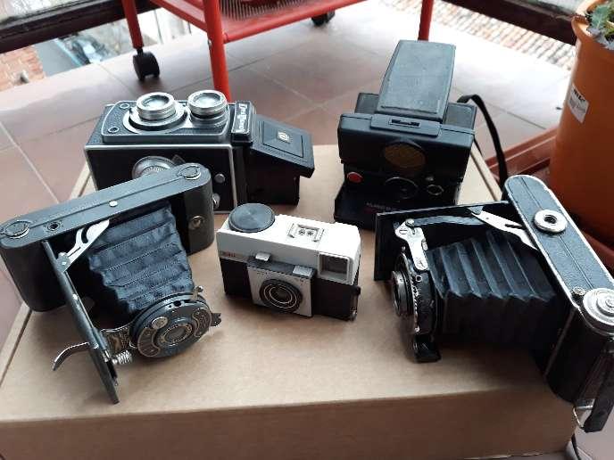Imagen Lote de 5 cámaras de fotos antiguas