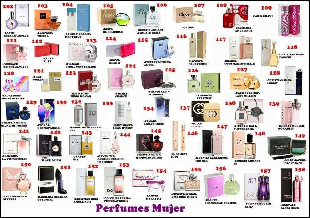 Imagen Perfumes 100% originales de los mejores diseñadores.
