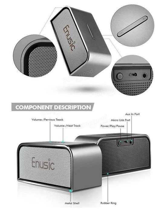 Imagen producto Altavoces Bluetooth, diseño Premium: Enusic 003 - 10W 4