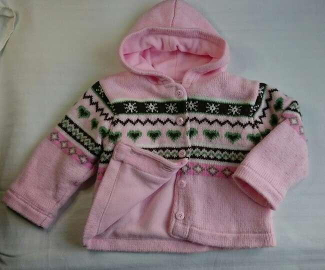 Imagen Abrigo de punto rosa