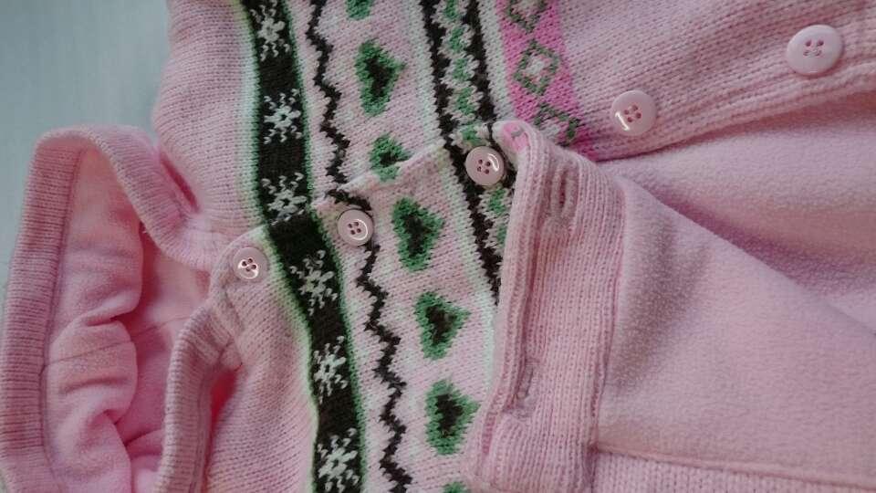 Imagen producto Abrigo de punto rosa  2