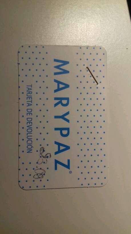 Imagen Marypaz tarjeta de devoluccion