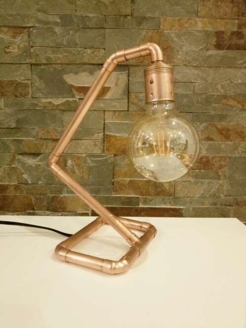 Imagen producto Lámpara Vintage de cobre diseño industrial, hecho a mano, original. 3