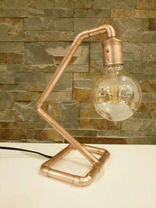Imagen producto Lámpara Vintage de cobre diseño industrial, hecho a mano, original. 2