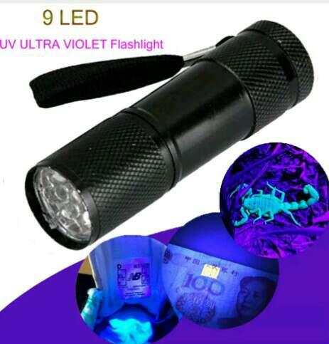 Imagen Linterna ultravioleta 9 led