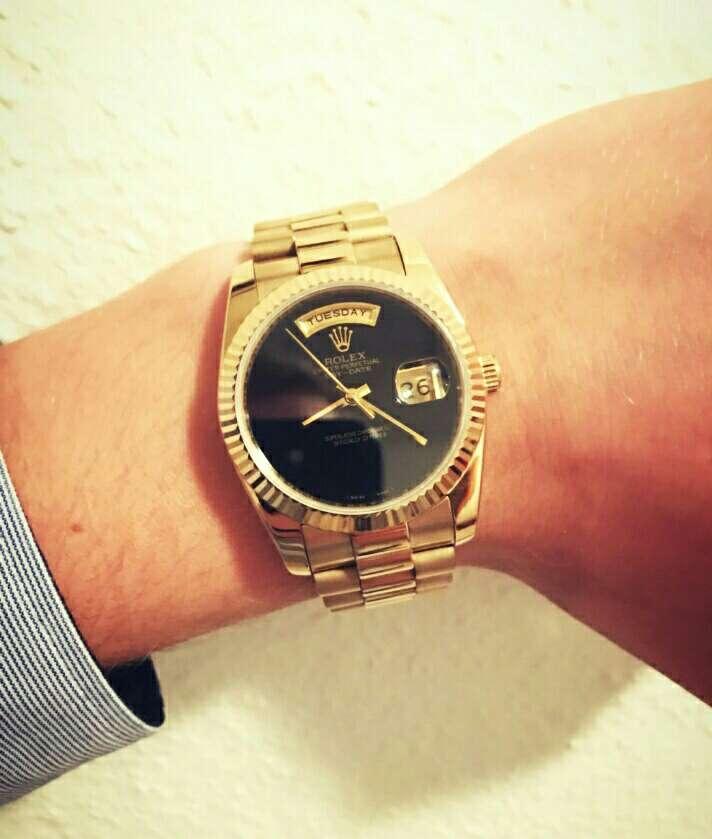 Imagen 24k.gold reloj watch