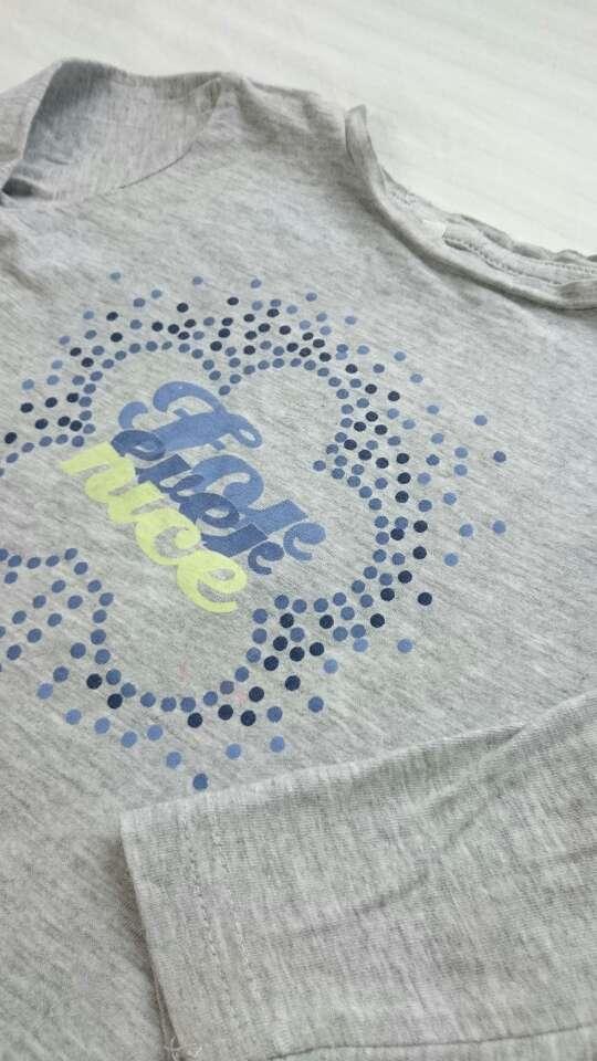 Imagen producto Camiseta niña gris manga larga  2