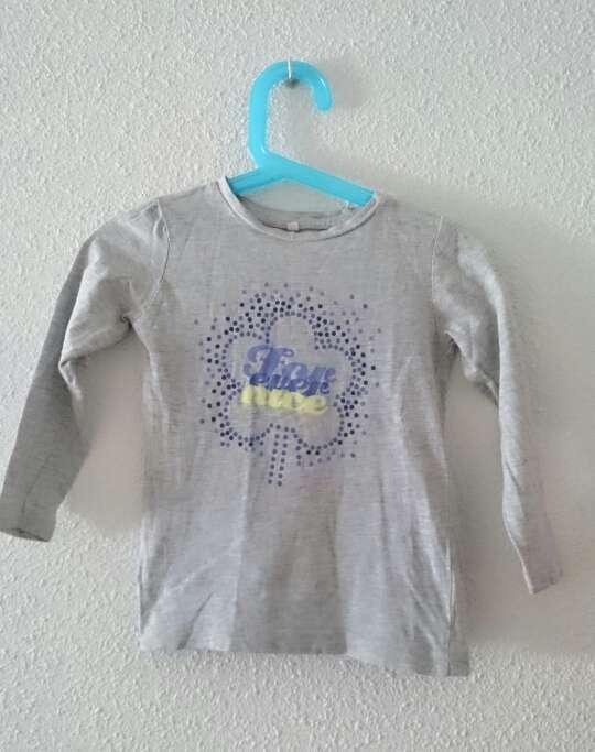 Imagen producto Camiseta niña gris manga larga  3