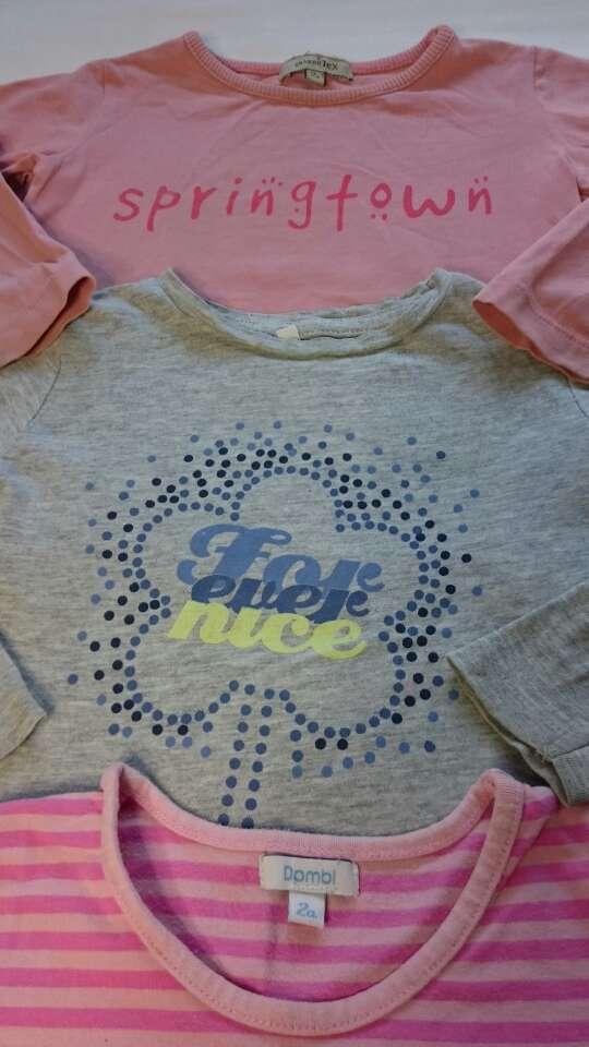 Imagen producto Camiseta niña gris manga larga  4