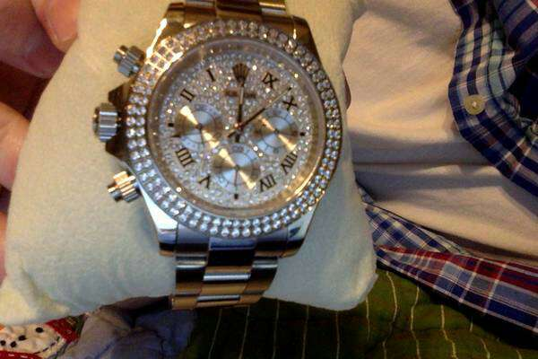 Imagen Men's Diamond rolex watch!role x box watch
