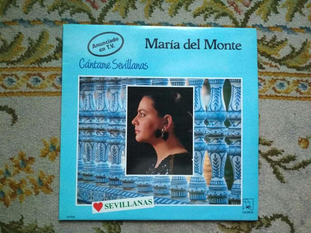 Imagen vinilo María del Monte cántame sevillanas