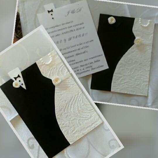 Imagen producto Tarjetas de invitaciones de boda 2