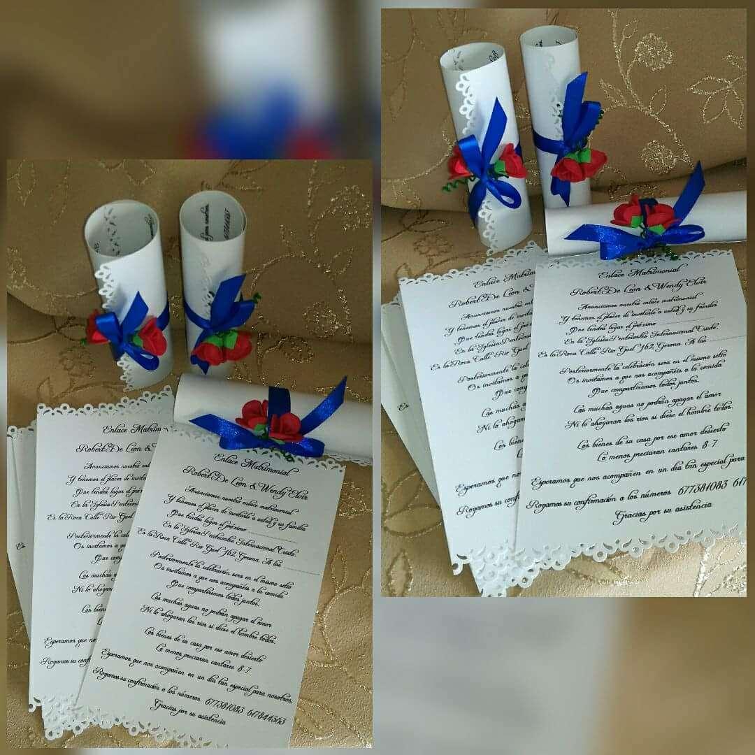 Imagen Tarjetas de invitaciones de boda