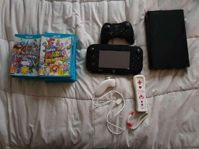 Imagen Nintendo Wii u avec manettes et jeux