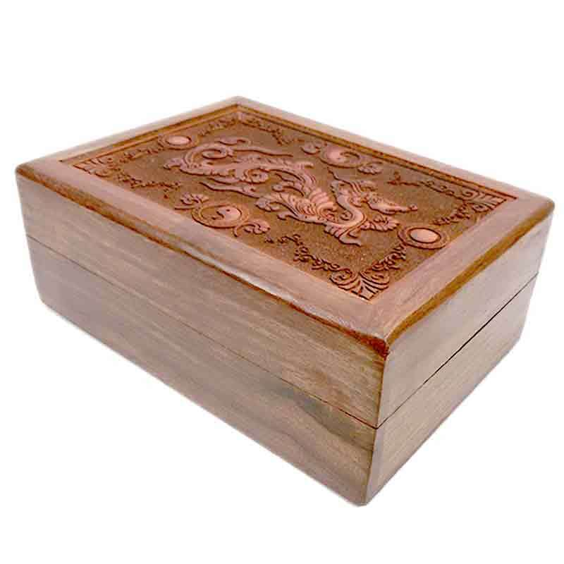 Imagen Caja tallada madera Dragón