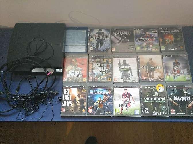 Imagen PS3+mando+auriculares+15 juegos