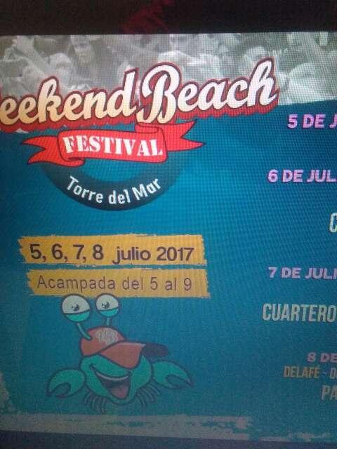 Imagen Abono del Weekend beach festival 2018